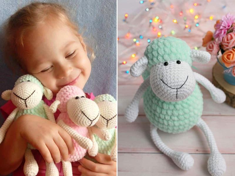 Free Crochet Pattern for Crochet Lamb - thefriendlyredfox.com | 600x800
