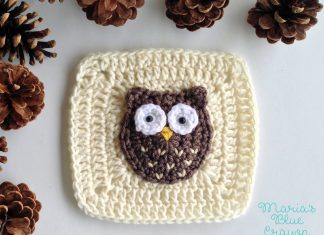 Woodland Owl Square free crochet pattern