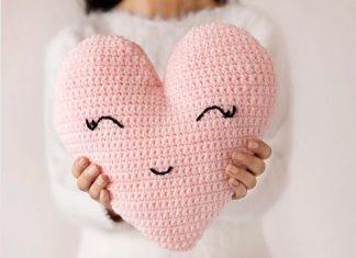 Heart Shaped Pillow Crochet Free Pattern
