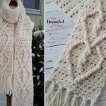 Hearts Entwined Chunky Crochet Scarf Free Pattern