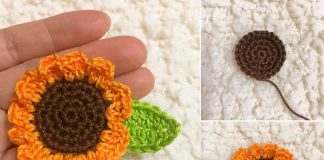 Mini Sunflower Crochet Free Pattern