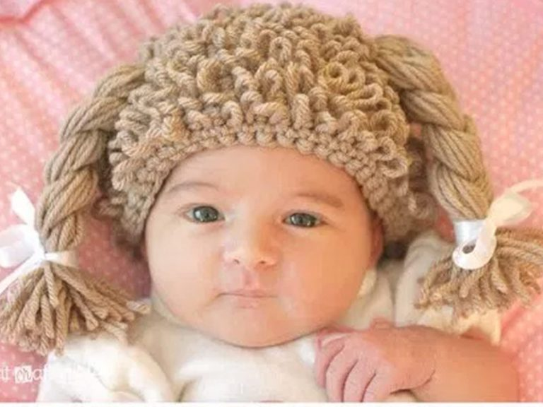Crochet Cabbage Patch Doll Inspired Hat Free Pattern