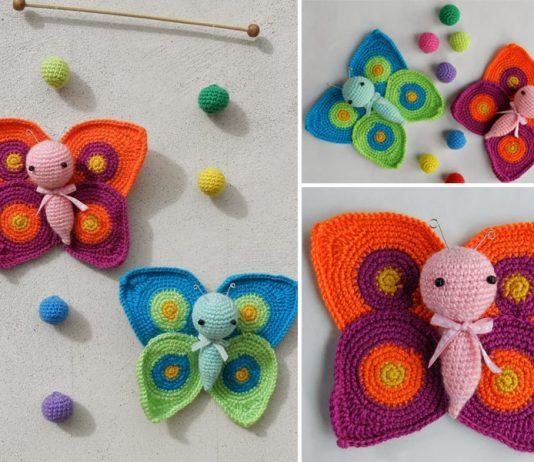 Amigurumi Butterflies Free Crochet Pattern