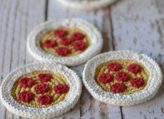 Crochet Pizza Coasters Free Pattern