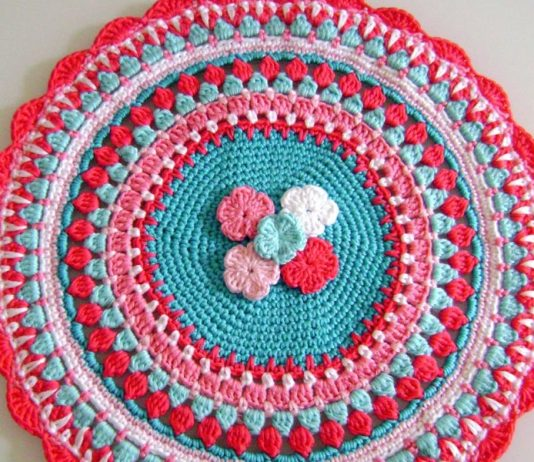 Crochet Mandala Bouquet Free Diagram