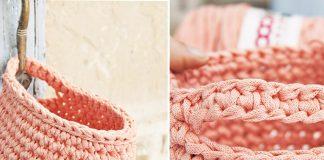 Crochet Hanging Basket Free Pattern