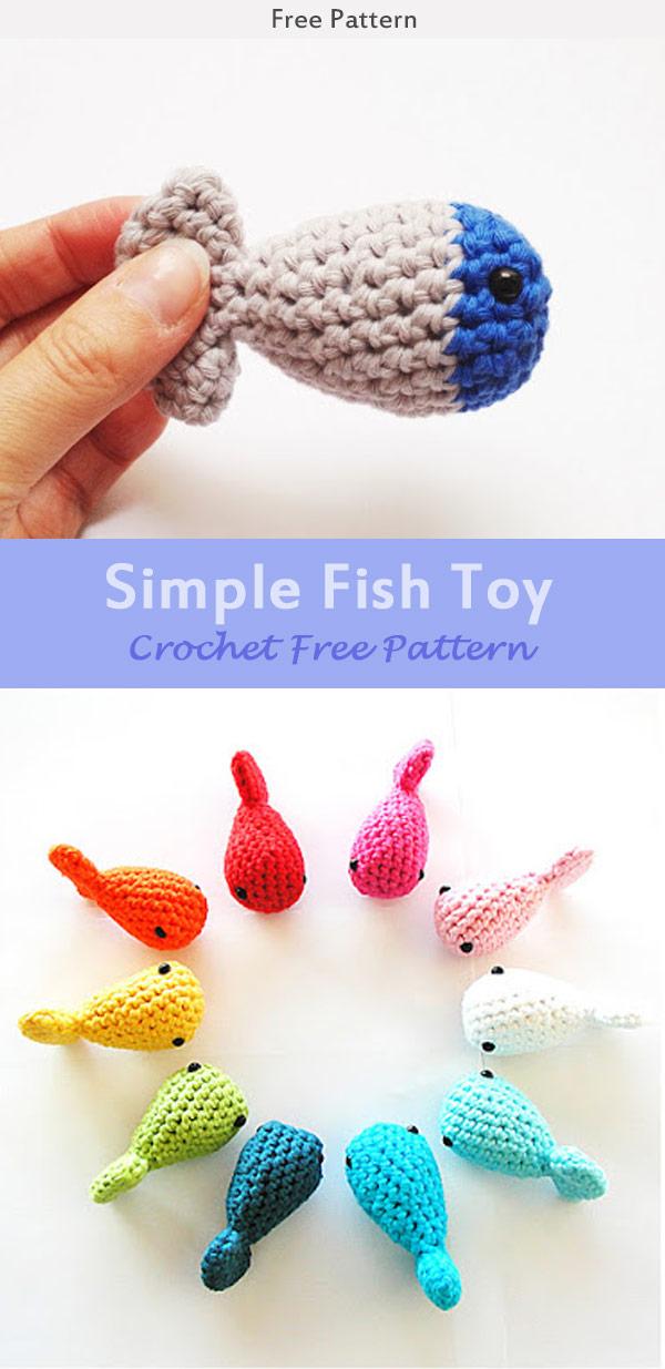 Simple Fish Toy Crochet Free Pattern