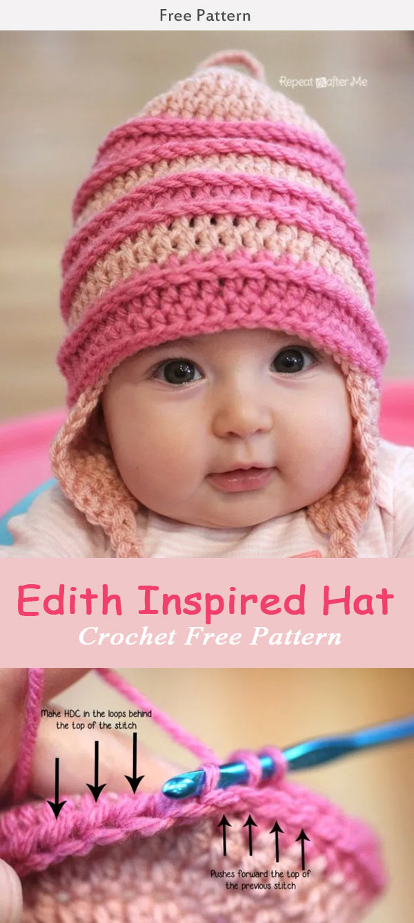 Crochet Edith Inspired Hat Crochet Free Pattern