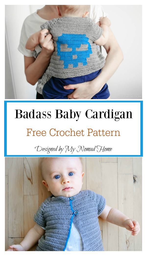Badass Baby Cardigan Clothing Crochet Free Pattern