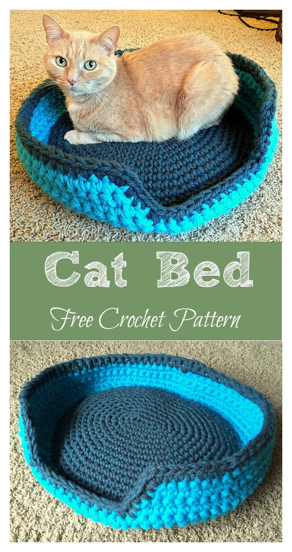 Sturdy Comfy Cat Bed Free Crochet Pattern