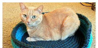 Sturdy & Comfy Cat Bed Free Crochet Pattern