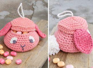 Gummy Bunny Basket Crochet Free Pattern