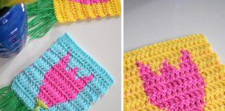Tulip Flower In Tapestry Free Crochet Pattern
