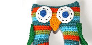 Stripey Owl Baby Rattle Crochet Free Pattern