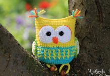 The Owl Rattle Toy Crochet Free Pattern