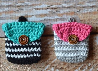 Striped Coin Purse Crochet Free Pattern