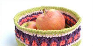 Fall Apple Basket: Free Crochet Pattern