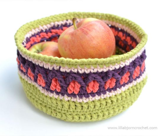 Fall Apple Basket: Free Crochet Pattern