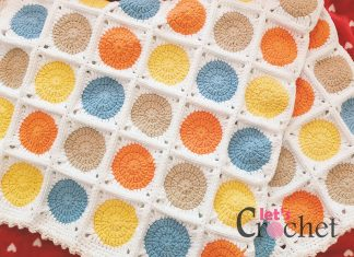Circle Garland Blanket Crochet Free Pattern