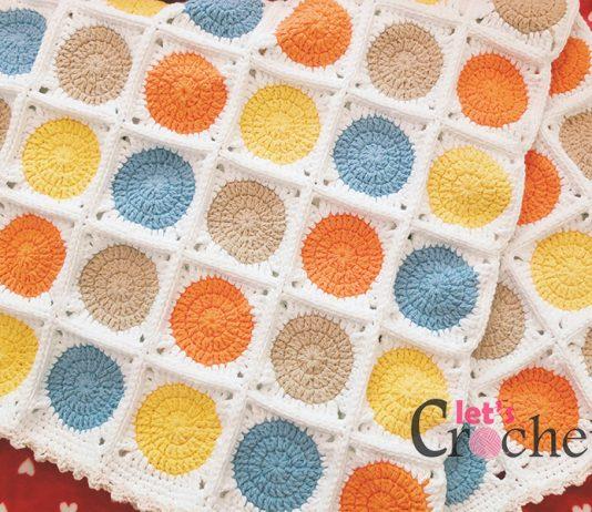 Circle Garland Blanket Crochet Free Pattern