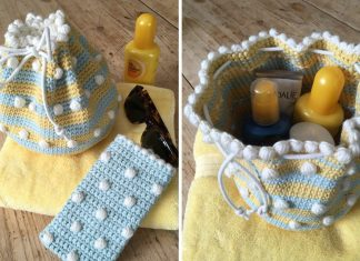 Small Drawstring Bag Crochet Free Pattern