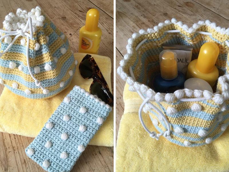 Small Drawstring Bag Crochet Free Pattern