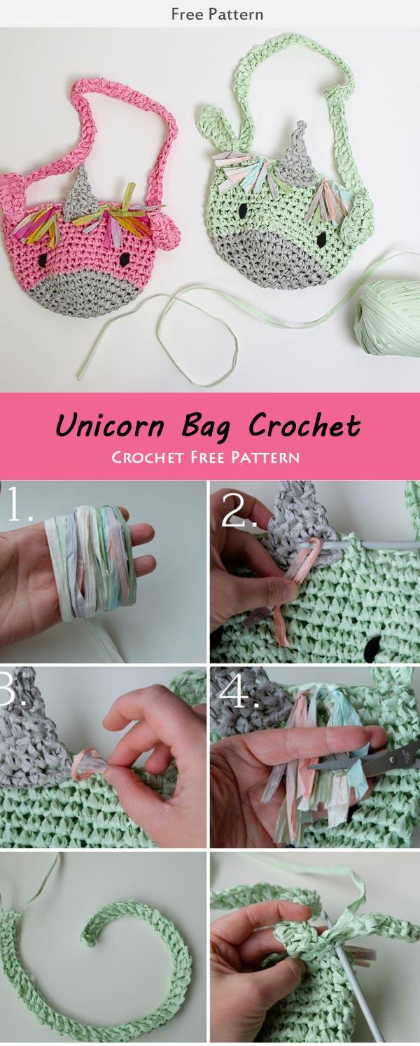 Unicorn Bag Crochet Crochet Free Pattern