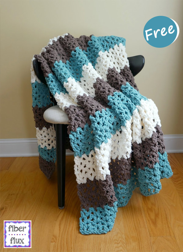 Family Room Throw Blanket Crochet Free Pattern