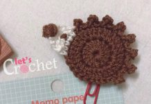 Easy Hedgehog Applique Free Crochet Pattern