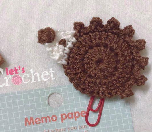 Easy Hedgehog Applique Free Crochet Pattern