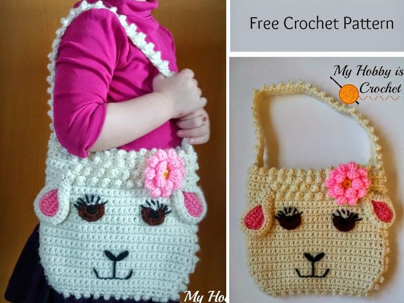 Darling Sheep Crochet Purse For Little Girls Crochet Free Pattern