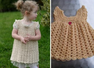 Angel Wings Pinafore Dress Crochet Free Pattern