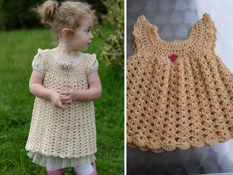 Angel Wings Pinafore Dress Crochet Free Pattern