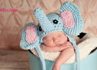 Newborn Elephant hat Crochet Free Pattern
