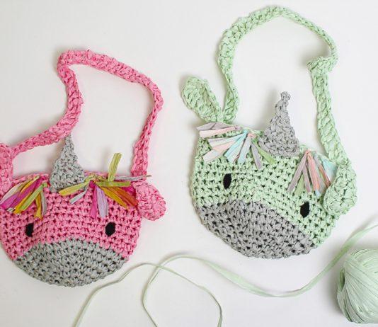 kid's Unicorn Bag Crochet Crochet Free Pattern