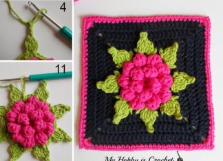 Bloom Granny Square Crochet Free Pattern