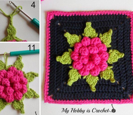 Bloom Granny Square Crochet Free Pattern