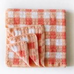 Cluster Stitch Gingham Blanket Crochet Free Pattern