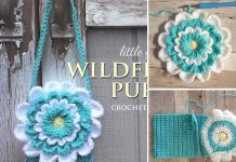 Little Girl's Flower Purse Crochet Free Pattern