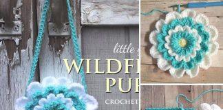 Little Girl's Flower Purse Crochet Free Pattern
