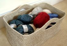 Rope Basket Crochet Free Pattern