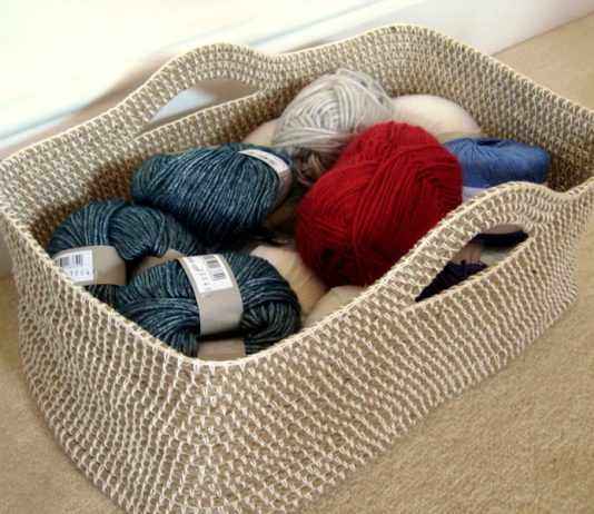 Rope Basket Crochet Free Pattern