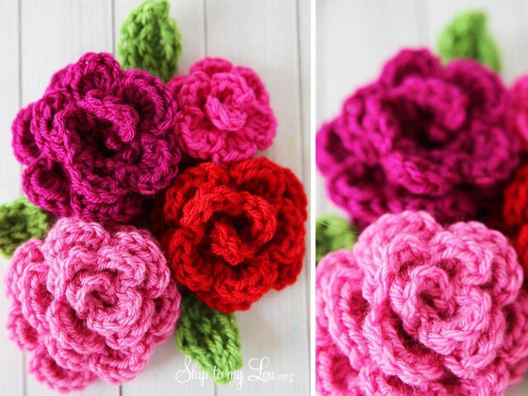 Free Easy Rose Crochet Free Pattern