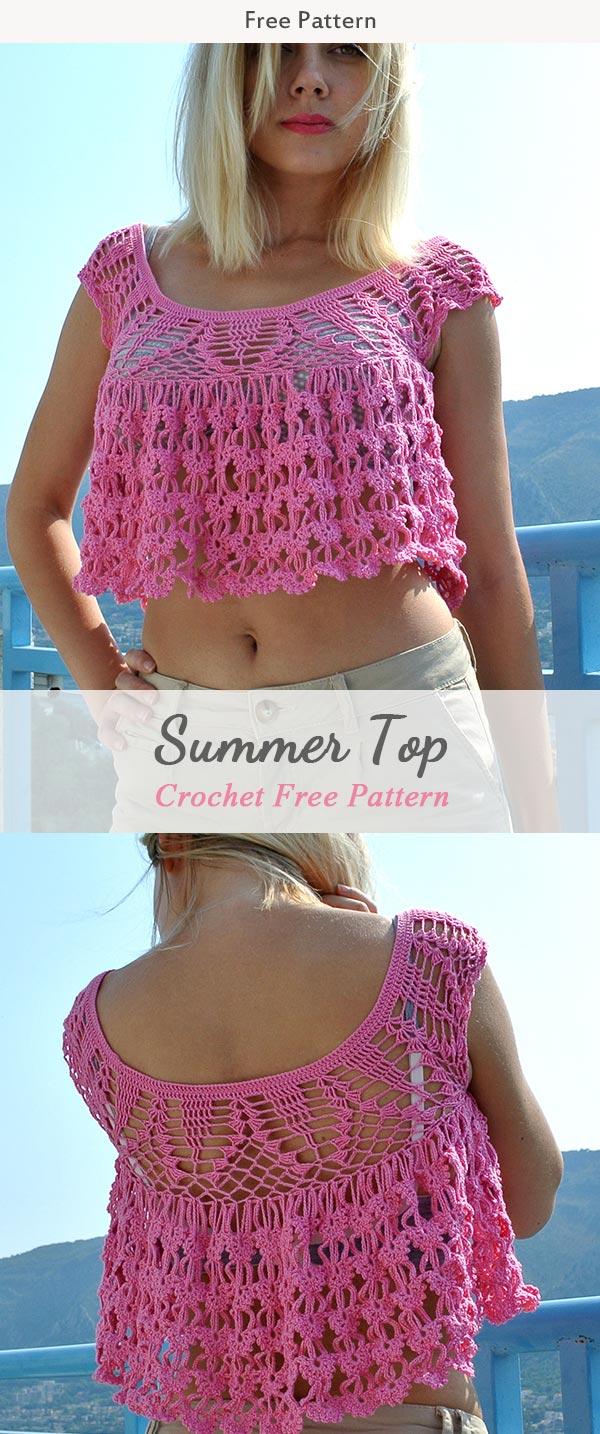 Summer Top Crochet Free Pattern
