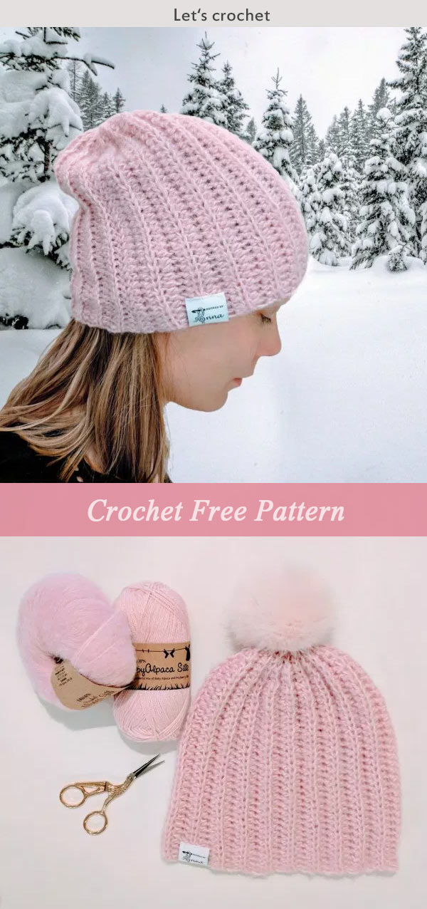 Strawberry Fluff Hat Crochet Free Pattern
