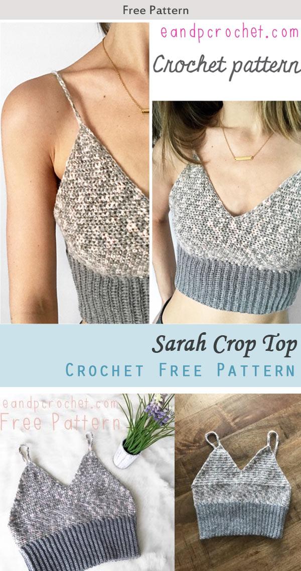 Sarah Crop Top Crochet Free Pattern