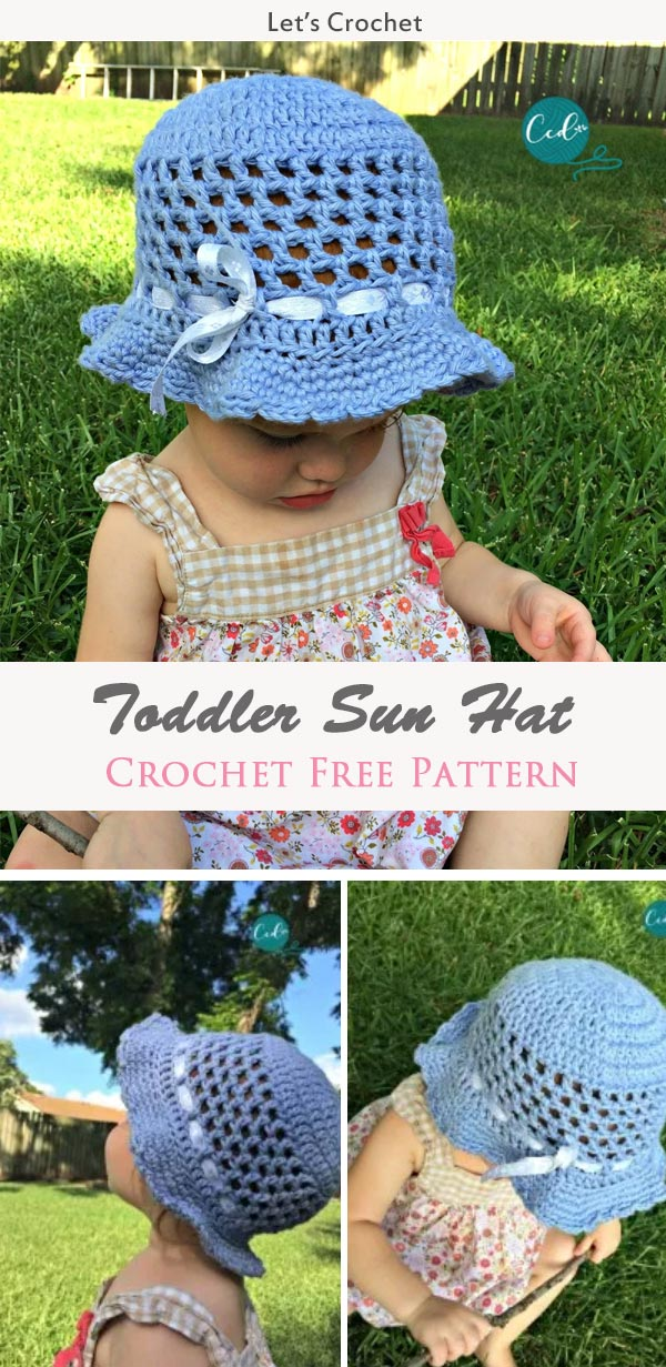 Kid Toddler Sun Hat Crochet Free Pattern