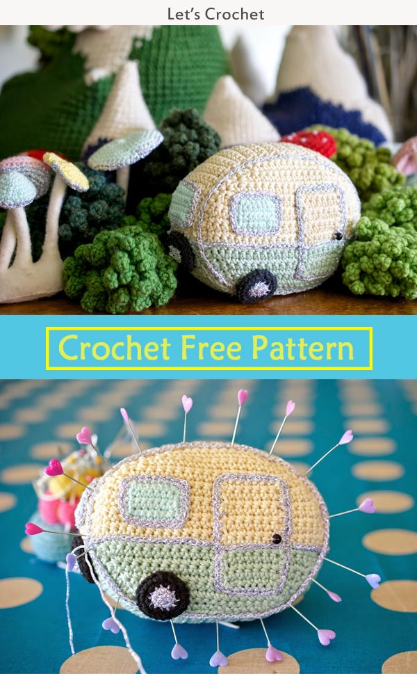 Mini Vintage Caravan Crochet Free Pattern
