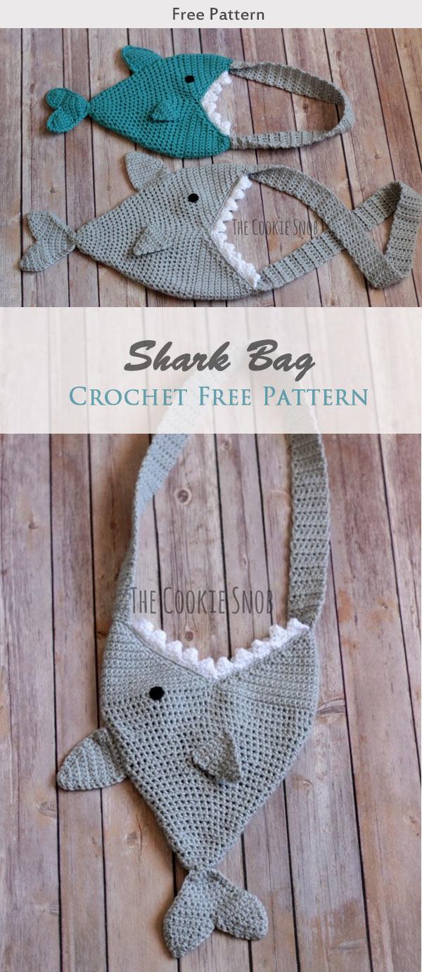 Shark Bag Crochet Free Pattern