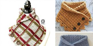 The MALIA Buttoned Cowl Crochet Free Pattern